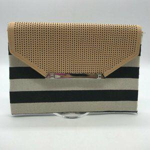 Stella & Dot Striped Clutch